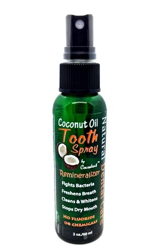 coconut oil cacao remineralizing sensitive teeth spray. Black Bedroom Furniture Sets. Home Design Ideas