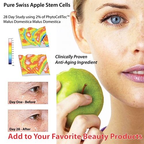 Swiss apple stem cell anti aging extract phytocelltec for Domestica in svizzera